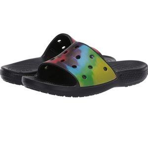 New Crocs Tie Dye Sandals